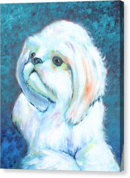 Prince The Little Dog Canvas Print