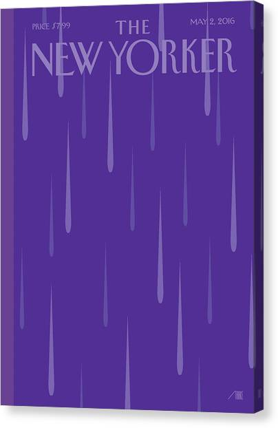 Death Canvas Print - Purple Rain by Bob Staake