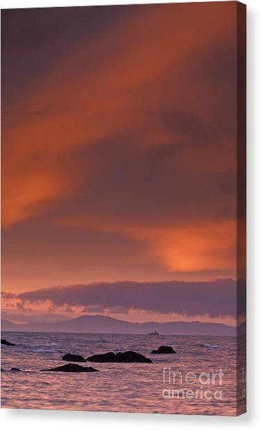 Prince William Sound Sunrise Canvas Print by Tim Grams
