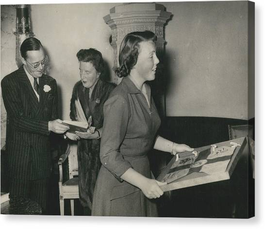 Princess Beatrix Of The Netherlands Receives Her Birthday Canvas Print by Retro Images Archive