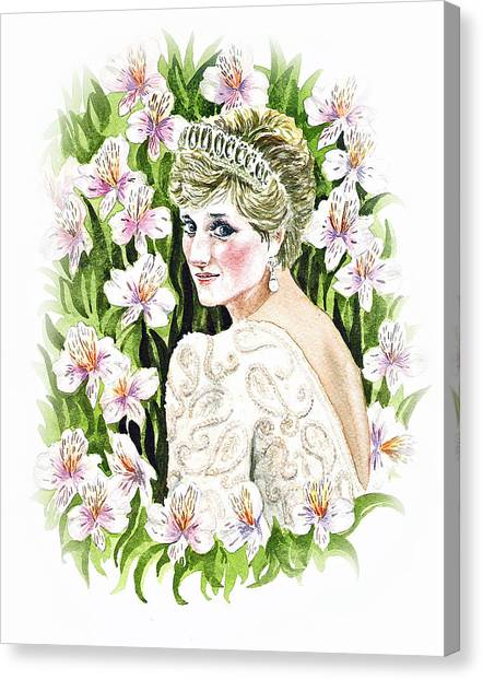 Peruvian Canvas Print - Princess Diana by Irina Sztukowski