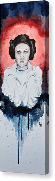 Leia Organa Canvas Print - Princess Leia by David Kraig