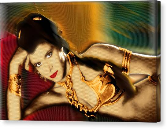 Leia Organa Canvas Print - Princess Leia Star Wars Episode Vi Return Of The Jedi 1 by Tony Rubino