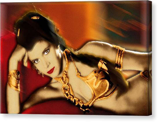 Jabba The Hutt Canvas Print - Princess Leia Star Wars Episode Vi Return Of The Jedi 2 by Tony Rubino