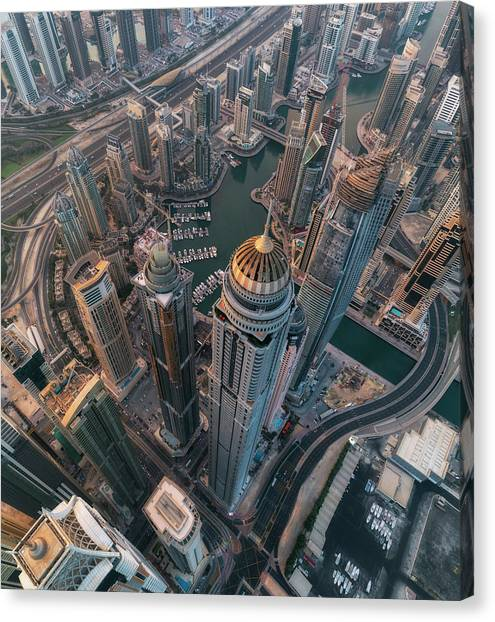 Dubai Skyline Canvas Print - Princess Marina by Stan Huang