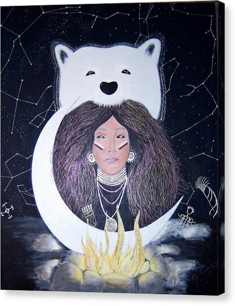 Princess Moon Canvas Print