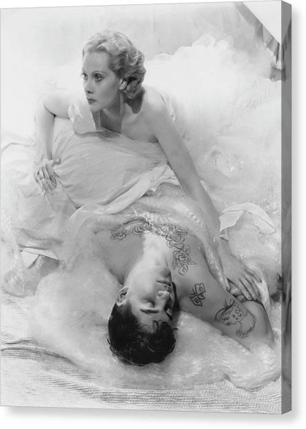 Princess Natalie Paley And Victor Kraft Canvas Print by Cecil Beaton