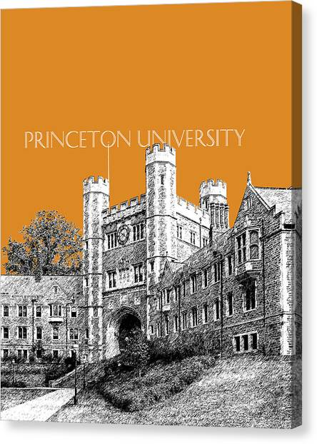 Princeton University Canvas Print - Princeton University - Dark Orange by DB Artist