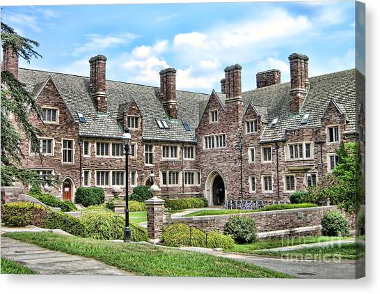 Princeton University Canvas Print - Princeton University Dormitory  by Olivier Le Queinec
