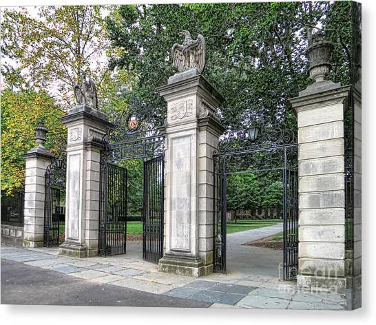 Princeton University Canvas Print - Princeton University Main Gate by Olivier Le Queinec