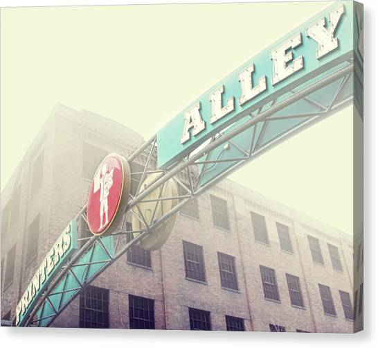 Printers Canvas Print - Printers Alley by Amy Tyler