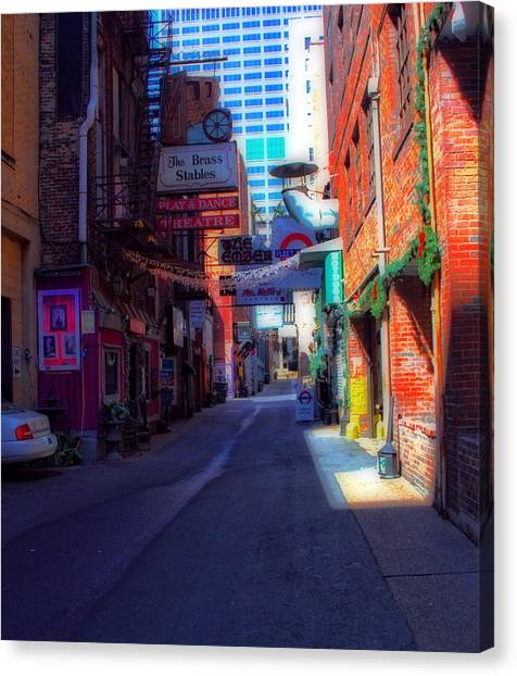 Printers Canvas Print - Printers Alley Nashville Tennessee by Dan Sproul