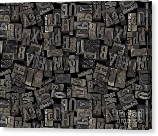 Lead Character Canvas Print - Printing Letters 2 by Peter Awax
