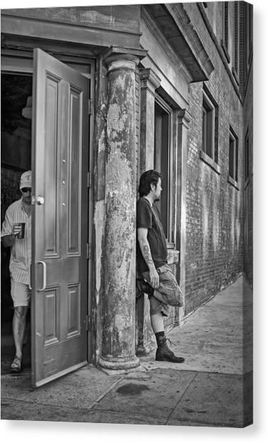 East Village Canvas Print - Priorities by Nikolyn McDonald