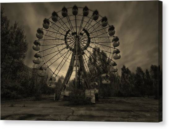 Pripyat Ferris Wheel Canvas Print