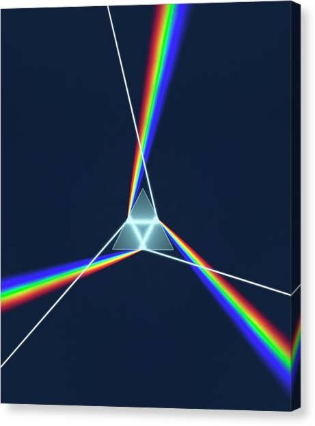 Prism And 3 Spectrums Canvas Print by David Parker