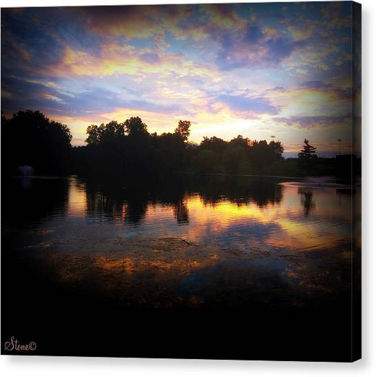High School Canvas Print - Prism Sky by September  Stone