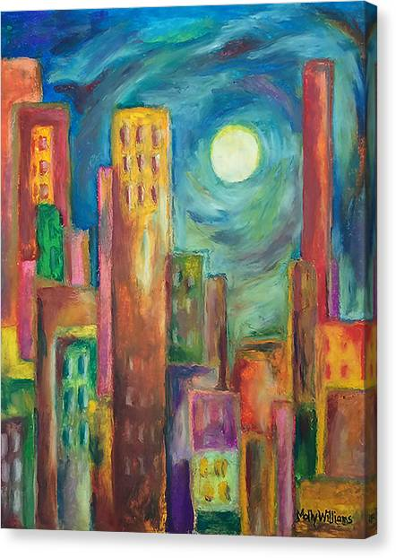Prismatic Cityscape Canvas Print
