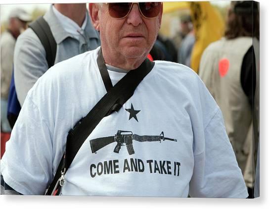 Gun Control Canvas Print - Pro-gun Rally by Jim West