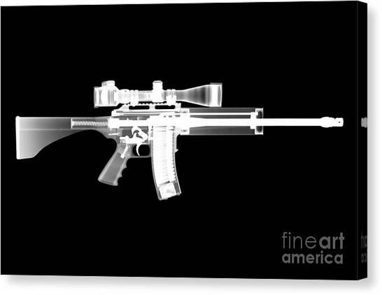 Shotguns Canvas Print - Pro Ordnance Carbon Ar15 by Ray Gunz