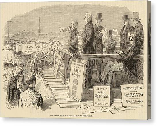 Pro-reform Leaders Address  Political Canvas Print by Mary Evans Picture Library