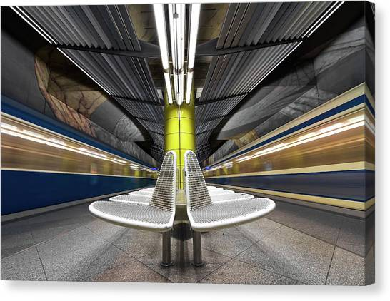 London Tube Canvas Print - Pro Vocation by Joe Plasmatico