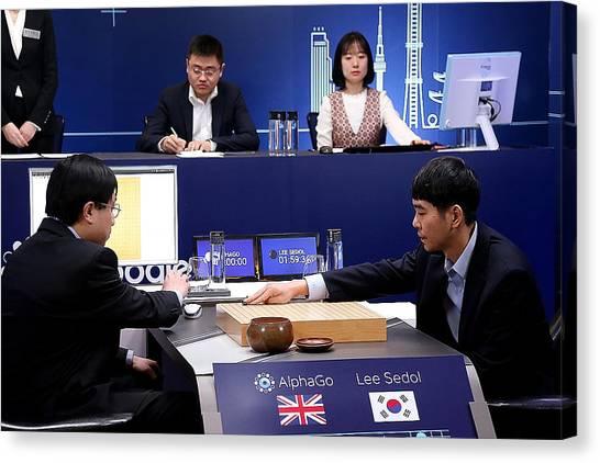 Professional 'go' Player Lee Se-dol Plays Google's Alphago - Last Day Canvas Print by Handout