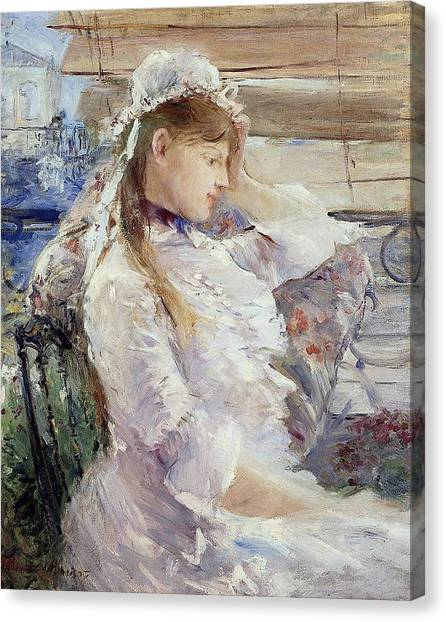 Half-length Canvas Print - Profile Of A Seated Young Woman by Berthe Morisot