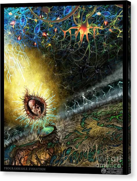 Programmable Evolution  Canvas Print