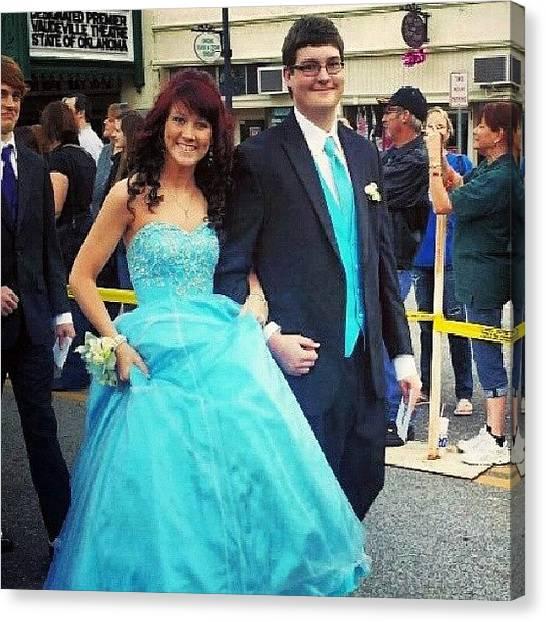 Tuxedo Canvas Print - Prom. :-) #prom #2013 #best #friend by Dakotah Bond