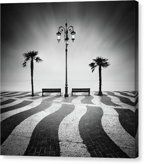 Street Lights Canvas Print - Promenade... by Daniel ?e?icha