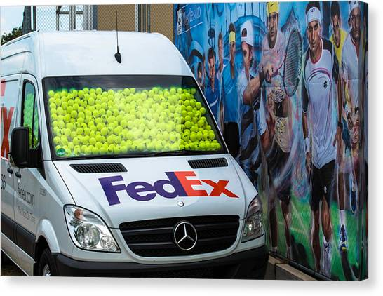 Tennis Pros Canvas Print - Promotion During The Atp Trophy In Stuttgart - Germany by Frank Gaertner