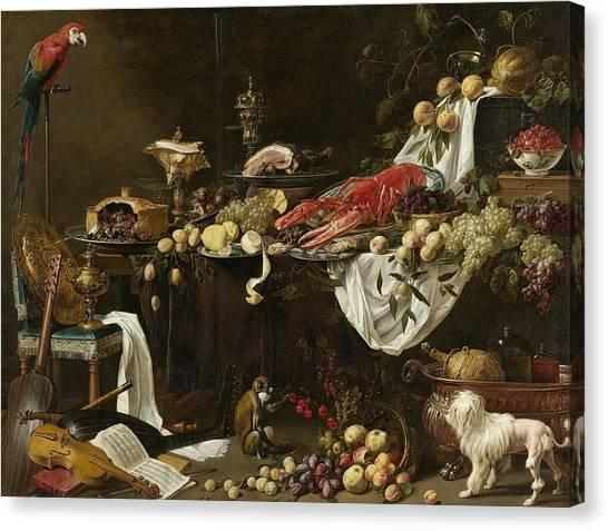 Rijksmuseum Canvas Print - Pronk Still Life by Adriaen van Utrecht