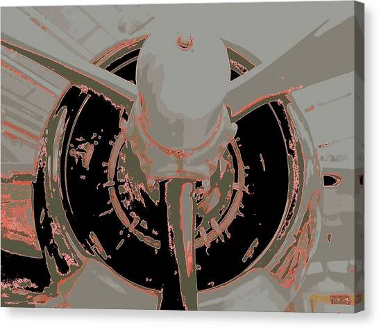 Prop Planes Canvas Print - Prop Me Up by Randall Weidner