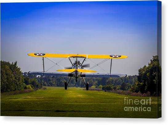 Biplane Canvas Print - Prop Wash by Marvin Spates
