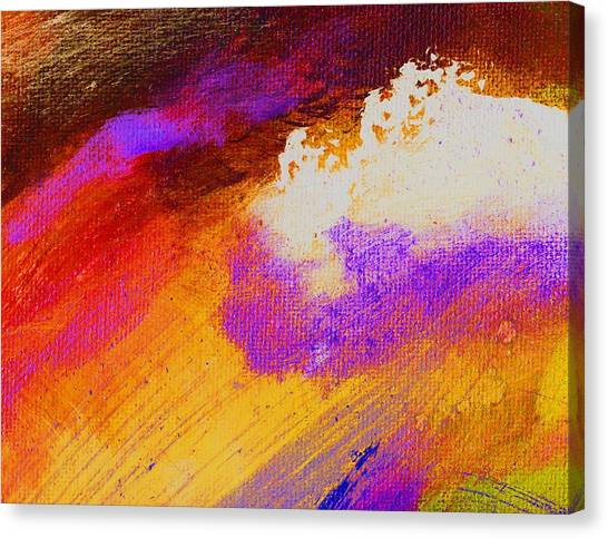 Propel Golden Canvas Print by L J Smith