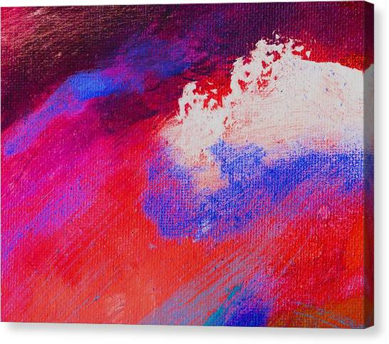 Propel Red Canvas Print by L J Smith