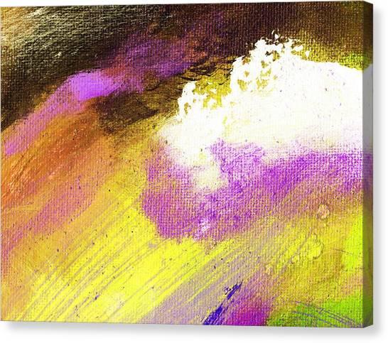 Propel Yellow Purple Canvas Print by L J Smith
