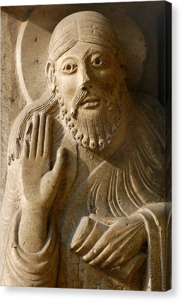 Romanesque Art Canvas Print - The Prophet Isaiah by Italian School