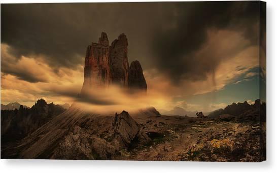 Dolomites Canvas Print - Prophetic Dreams Dolomite by Siarhei Mikhaliuk *