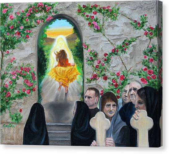 Canvas Print - Prophetic Ms 38 Before The Miracle by Anne Cameron Cutri