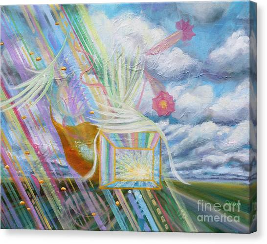 Canvas Print - Prophetic Ms 39 Praise And The Festival Of Booths/feast Of Tabernacles by Anne Cameron Cutri
