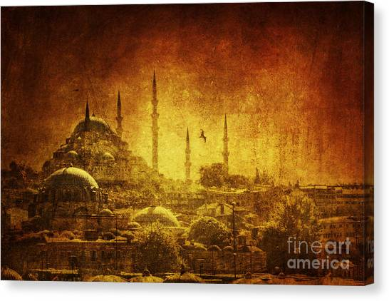 Muslim Canvas Print - Prophetic Past by Andrew Paranavitana
