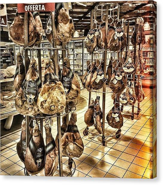 Ham Canvas Print - #prosciutti #insaccati #salumi by Michele Stuppiello