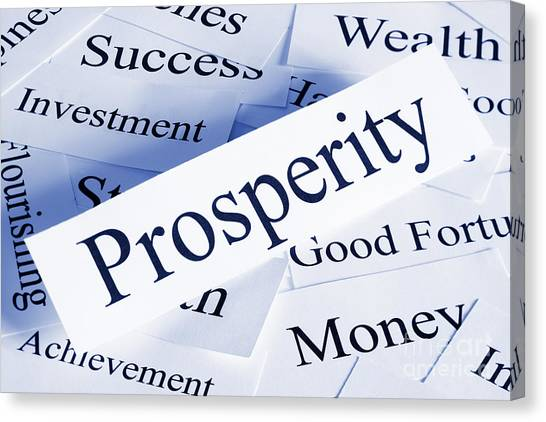 Prosperity Concept Canvas Print