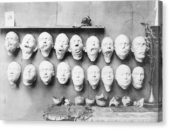 Cast Canvas Print - Prosthetic Masks Casts by Library Of Congress