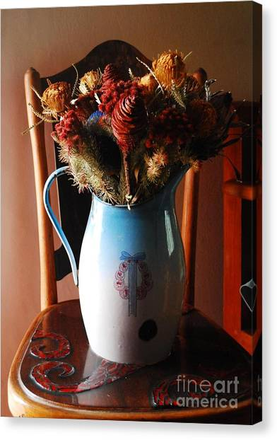 Protea Arrangement Canvas Print by Werner Van den Berg