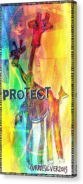 Protect Canvas Print by Currie Silver