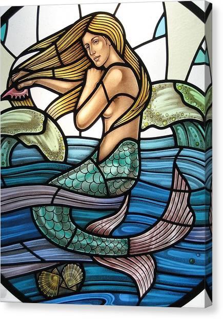 Protection Island Mermaid Canvas Print