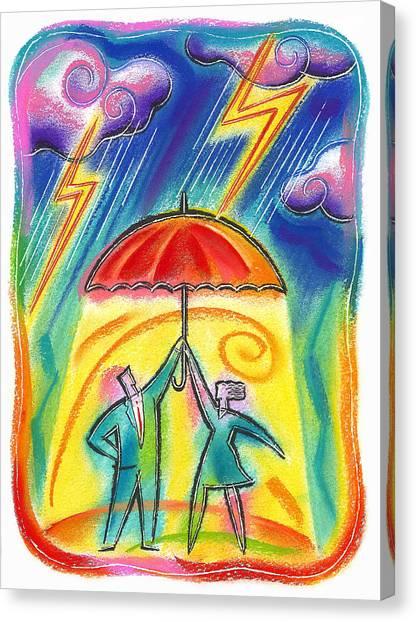 Hard Hat Canvas Print - Protection by Leon Zernitsky